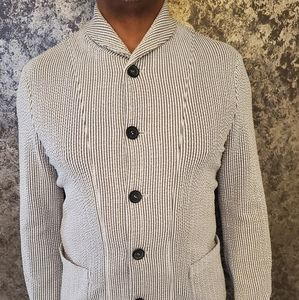 Gray & Cream Stripped Armani Blazer